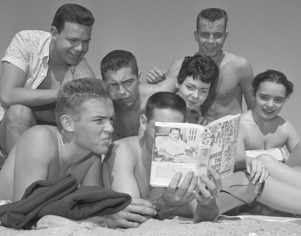 Boys Reading on the Beach